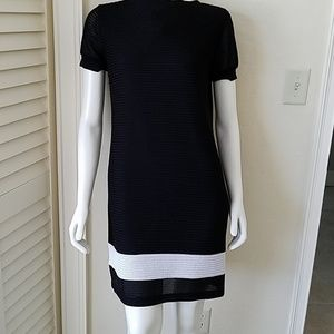 Mesh look lined dress